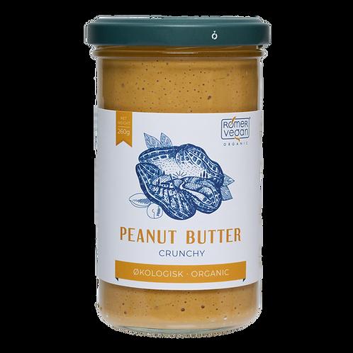 Økologisk peanut butter crunchy. Ristet og produceret i Danmark.