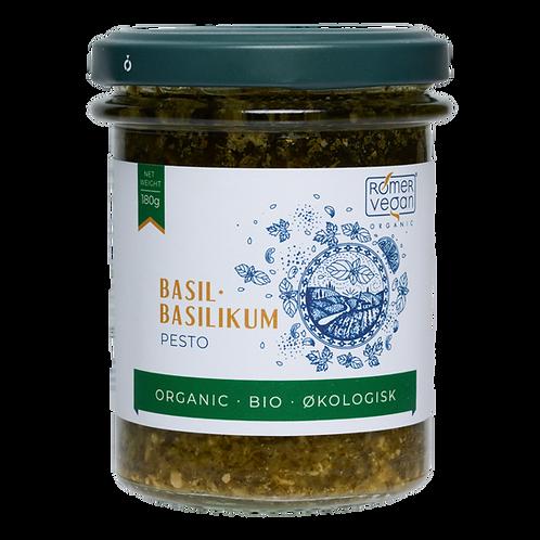 Økologisk pesto med basilikum. Udviklet og produceret af Rømer Vegan.