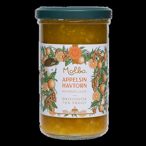Økologisk marmelade fra Mols. Appelsin & Havtorn.