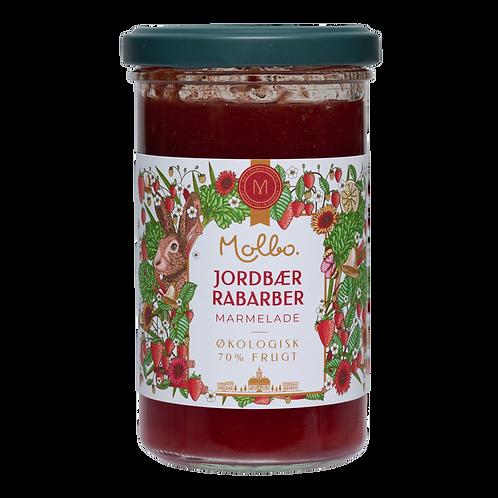 Marmelade fra Mols. Jordbær og rabarber