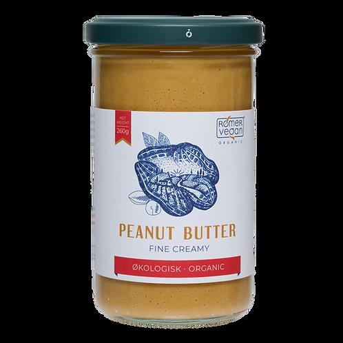 Økologisk peanut butter creamy. Ristet og produceret i Danmark.