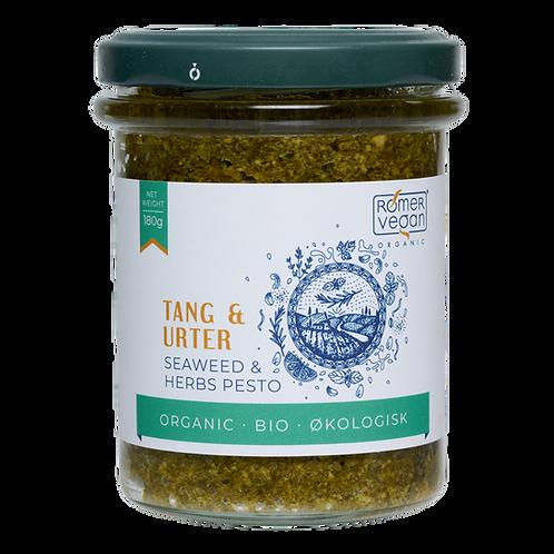 Økologisk pesto med tang og urter. Udviklet og produceret af Rømer Vegan.