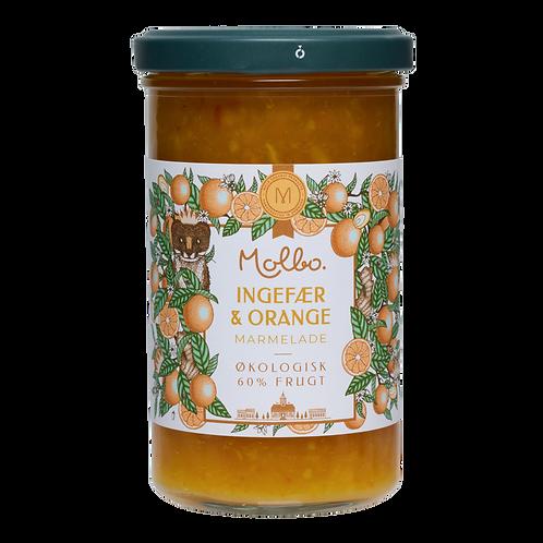 Økologisk marmelade fra Mols. Ingefær og Orange.
