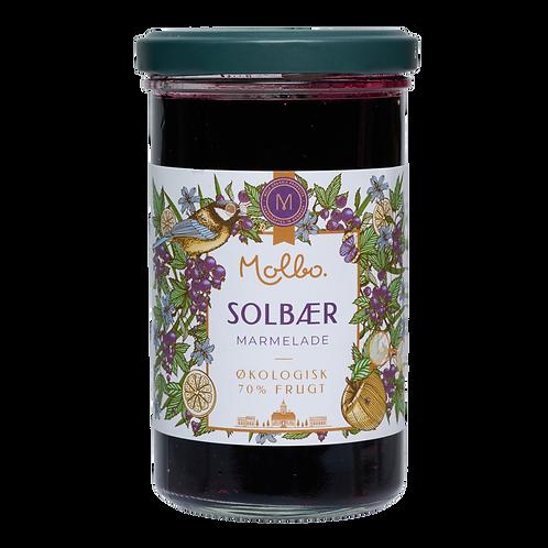 Økologisk marmelade fra Mols. Solbær.