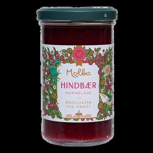 Økologisk marmelade fra Mols. Hindbær.