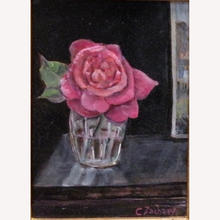 rose in Water glass