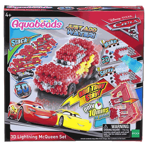 Cars 3D Lightning McQueen Set
