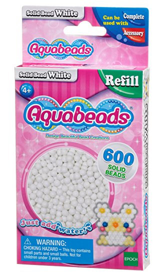 White Solid Bead Pack
