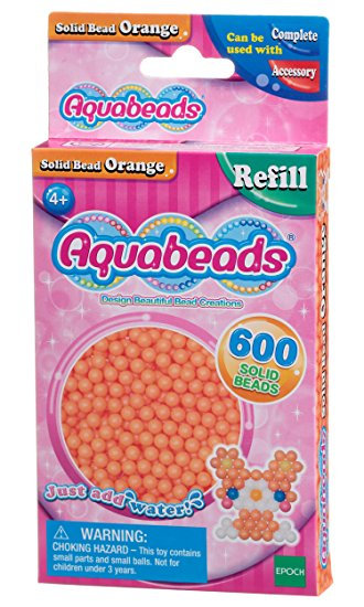 Orange Solid Bead Pack