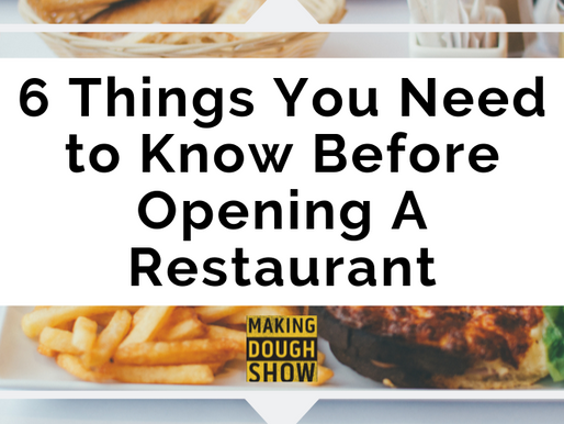6 Things You Need to Know Before Opening A Restaurant