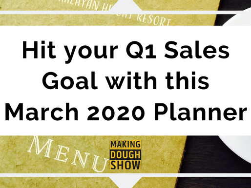 Hit your Q1 Sales Goal with this March 2020 Planner