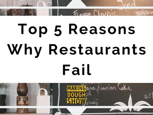Top 5 Reasons Why Restaurants Fail