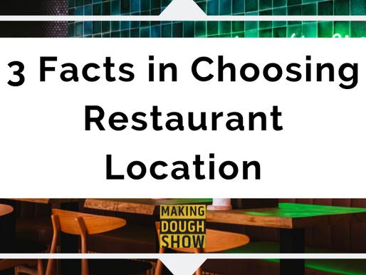 3 Facts in Choosing Restaurant Location