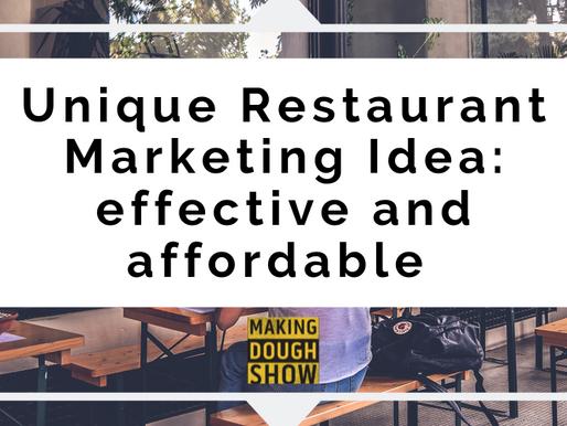 Unique Restaurant Marketing Idea: effective and affordable