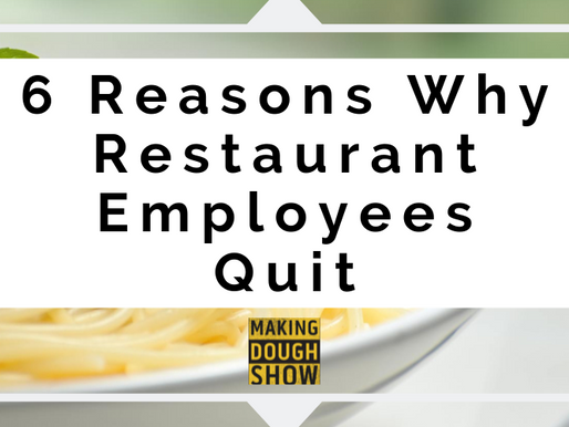 6 Reasons Why Restaurant Employees Quit