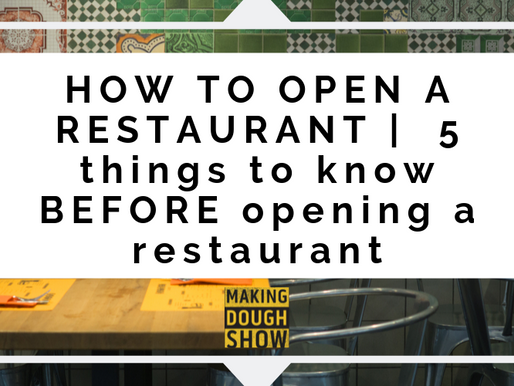 HOW TO OPEN A RESTAURANT    5 things to know BEFORE opening a restaurant