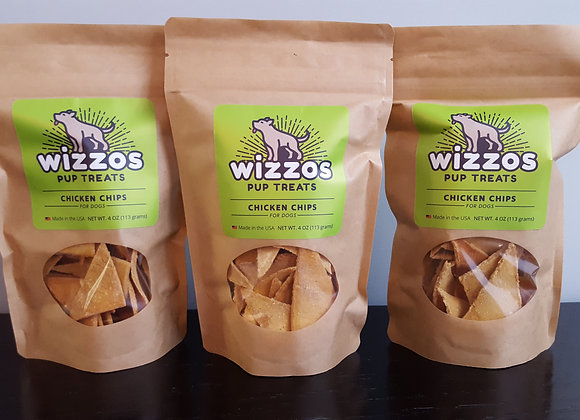 Chicken Chips - Three 4oz Bags