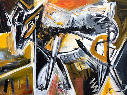 The new Ciesla's paintings from the Arcgetype series, primitive art in a contemporary symbolism