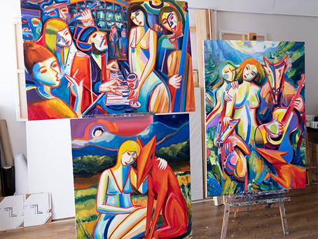 New paintings in Die Kunstmacher and Singulart