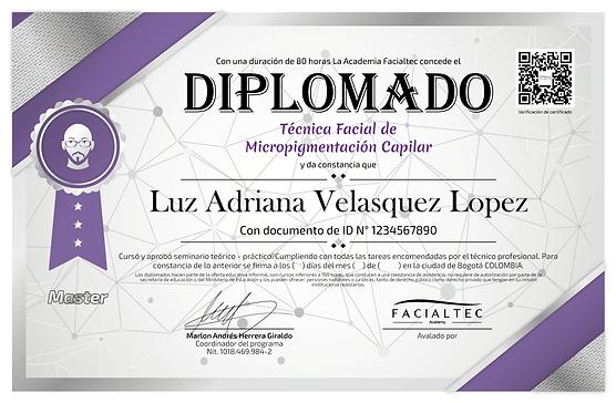 diploma micropigmentacion capilar facialtec academy