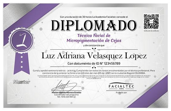 diploma micropigmentacion de cejas facialtec academy
