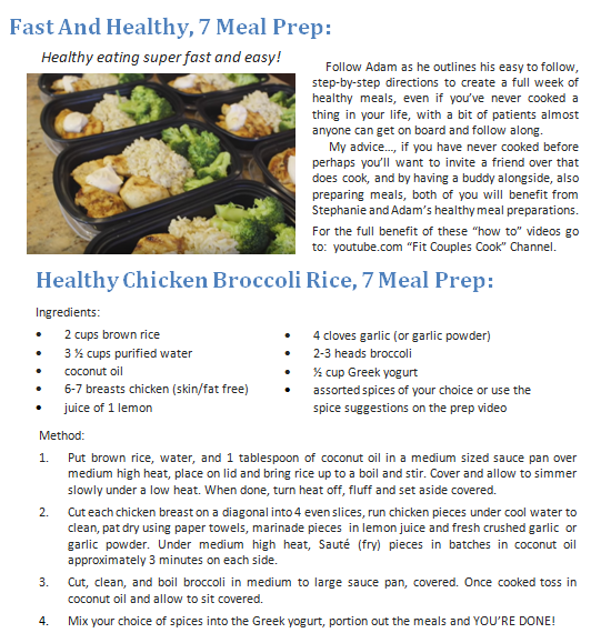 Fast and Healthy 7 Meal Prep