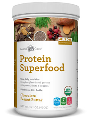 Amazing Grass Protein Superfood Choc-Peanut Butter 12 oz