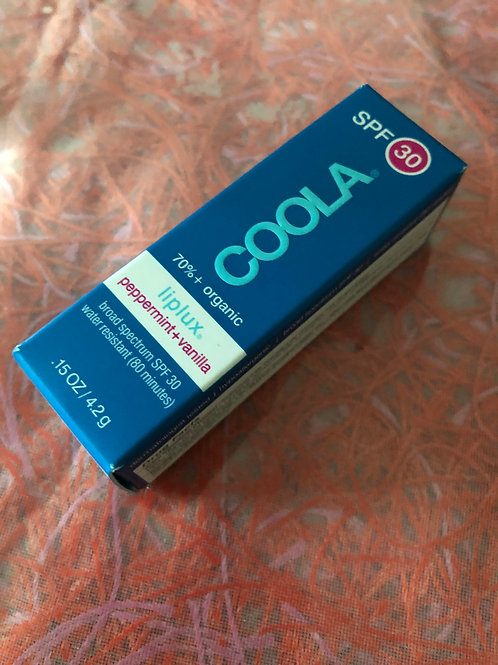 Coola Lip Balm Liplux Peppermint and Vanilla FULL SIZE