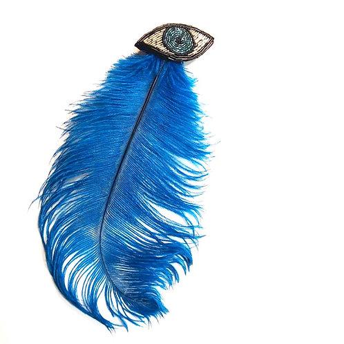 Feather Eye Brooch