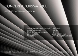 21 septembre 2017 - Cielo Vivo - Théâtre de verre - Paris - 20h30