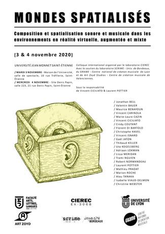 4 novembre 2020 - Changement : Virtual Rhizome Reportée - Colloque Mondes Spatialisés en ligne