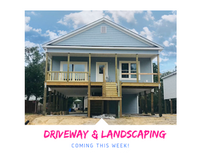 DRIVEWAY & LANDSCAPING UP NEXT