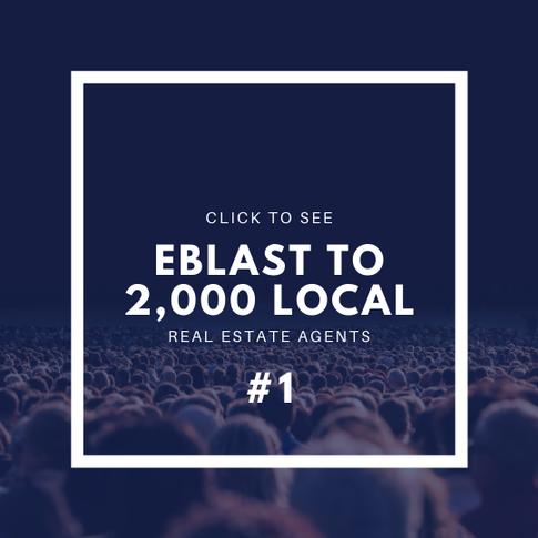 Click to see Eblast #1 to 2,000 Local Realtors