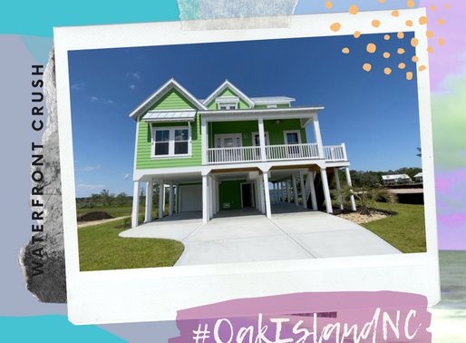 🍏 There's nothing sour about this green apple of a beauty 🍏 Waterfront on Oak Island #WCW 💚