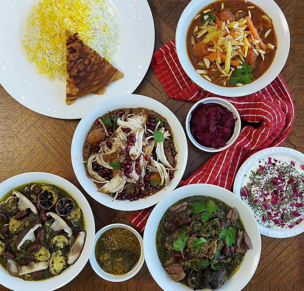 Persian food is predominantly the cuisine of Iran. Its unique gastronomy has been shaped by the interesting history and culture of Iran.  The different regions of Iran have their own culinary characteristics but overall Persian food is balanced, mild, and aromatic.