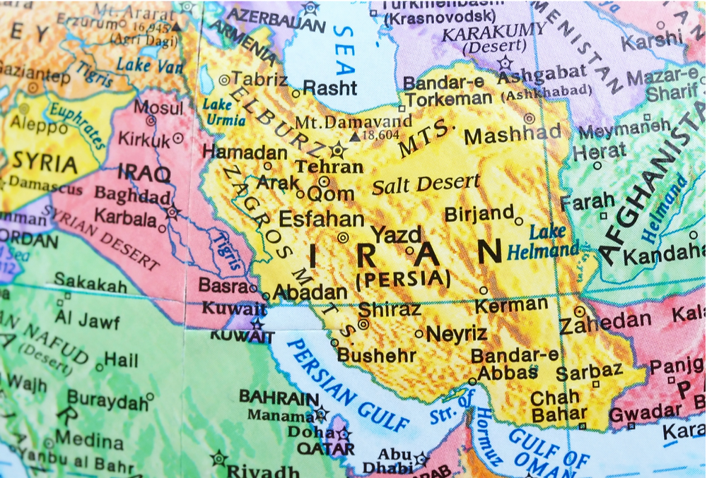 Where is Iran? Iran is a large country nestled in the Middle East bordering Iraq, Turkey, Azerbaijan, Russia, Afghanistan, Pakistan. You get the geste of how strategic its place is by looking at the map.