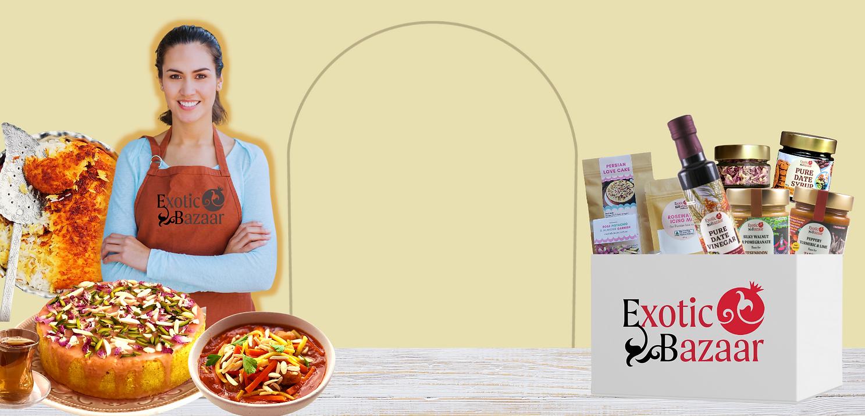 exotic bazaar website header woman fresh