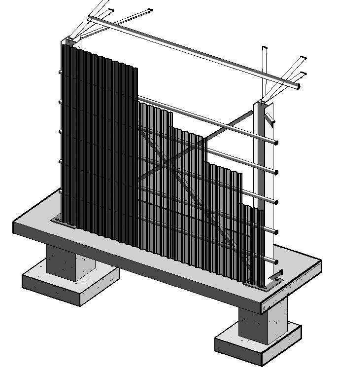 Proyecto Acero 01_Cerchas - Vista 3D - E