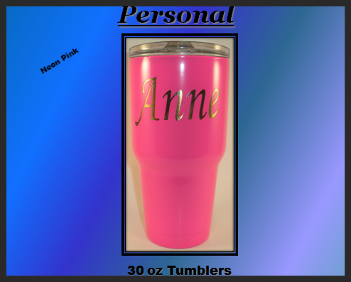 Solid Colors w/no decal (30 Oz.) Tumbler