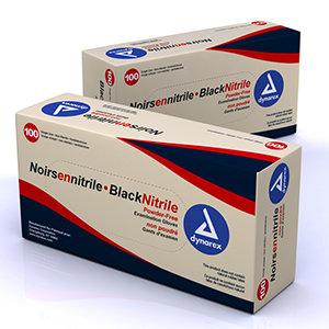 Black Nitrile Gloves (4mil) 100/bx