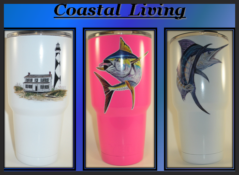 Coastal Living with Color Decals (30 Oz.) Tumbler
