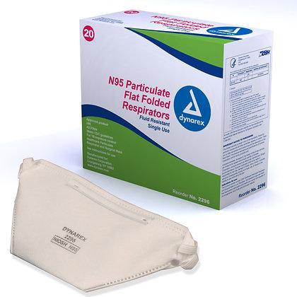 N95 Particulate Respirator Mask - flat (20/bx)