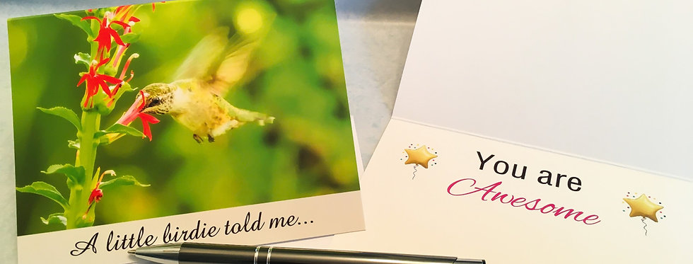 Hummingbird You are Awesome Card