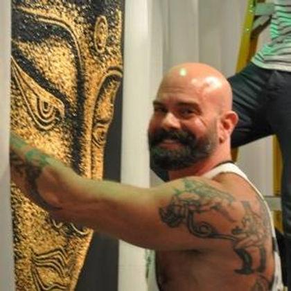 Kipp Tuers, artist, acrylic paintings,male figurative art, male nudes,erotic