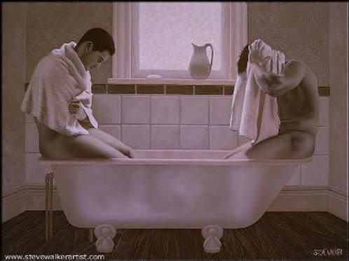 Two Men in a Tub