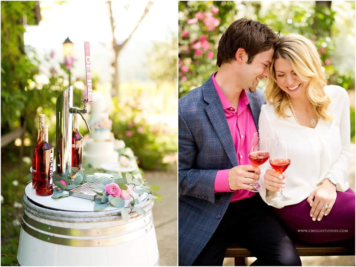 Define Wine Barrel Wedding Tap Carrie an