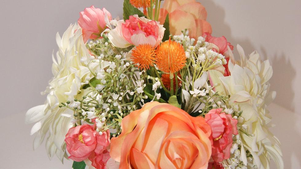 Roses and Dahlia arrangement