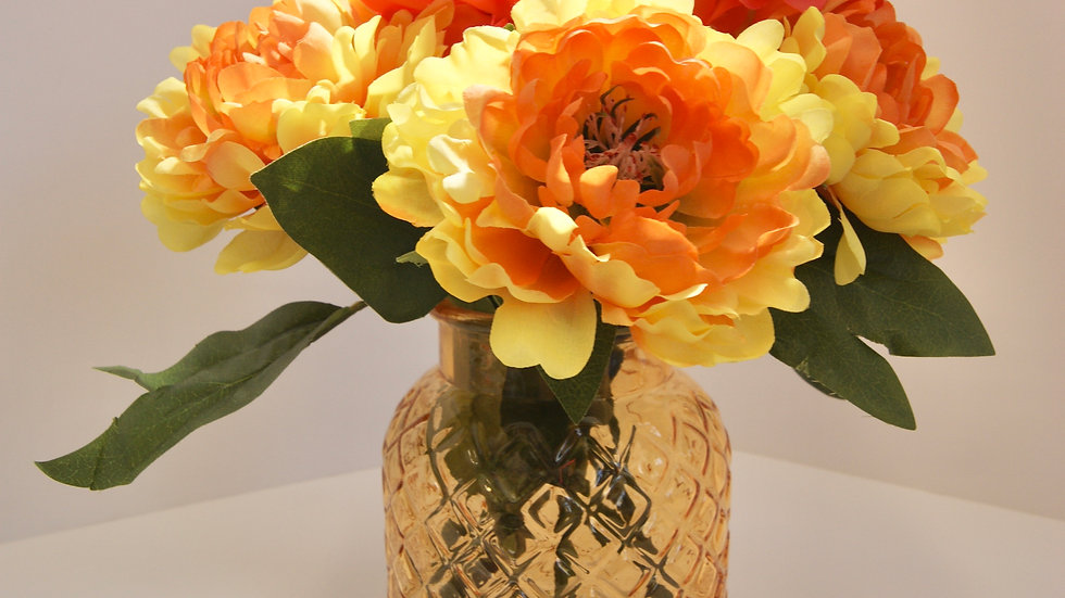 Orange and yellow flower arrangement