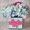 Thumbnail: Blue and pink flower box