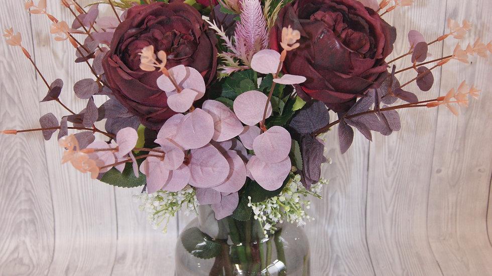 Mulberry vintage rose  arrangement